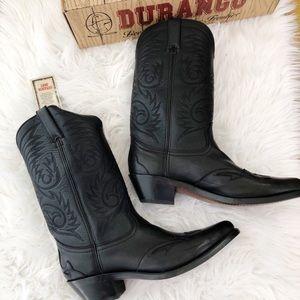 Vintage Durango Cowboy Boots Black New in Box